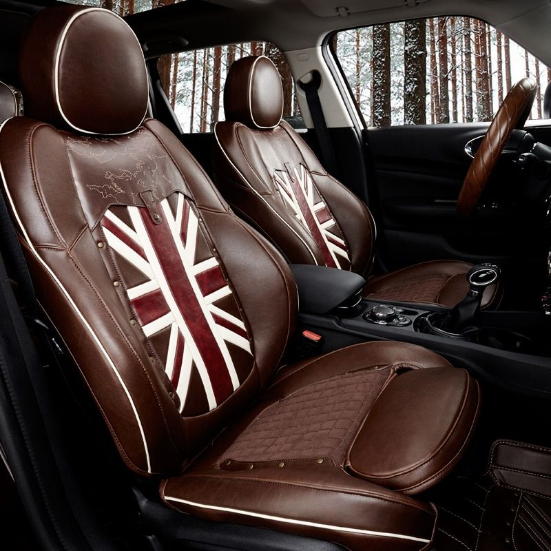 Car Seat Cover Leather Interior Accessories Seat Decoration Protector Covers For Mini Cooper Countryman F60 Car Accessories