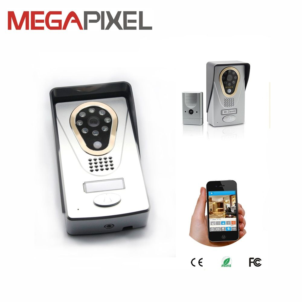 Door Intercom IP Doorbell Wireless Video Camera Wifi Video Door Phone infrared PIR Motion Detection Alarm IOS Android APP view