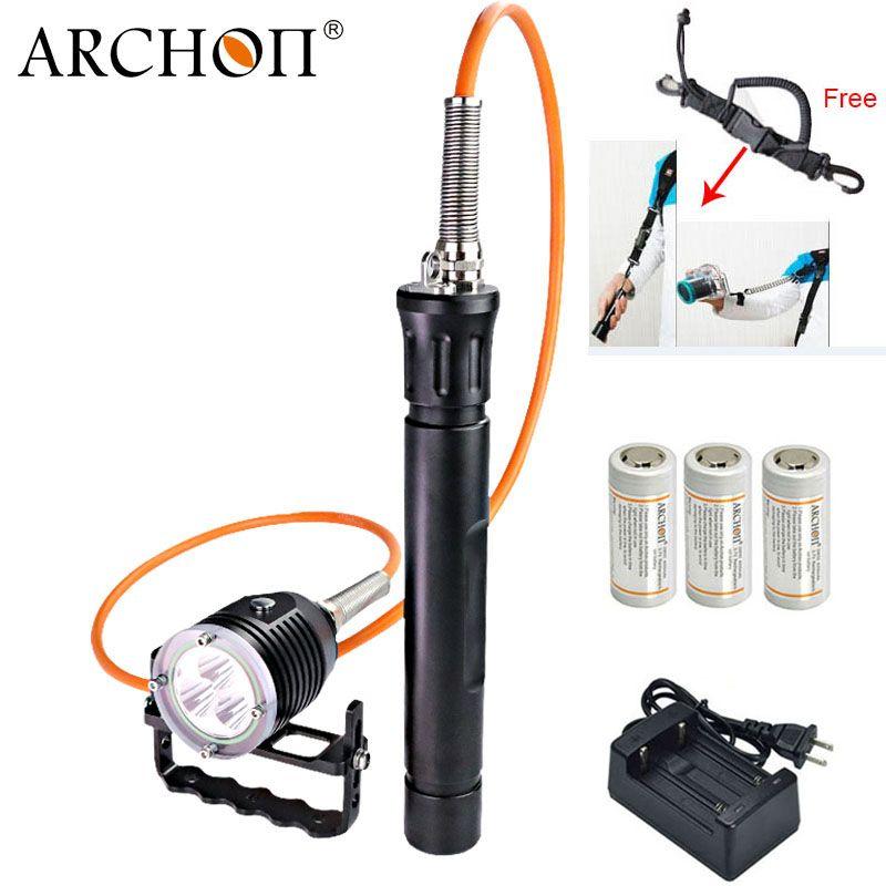 ARCHON DH30-II updat dh30 Tauchen Taschenlampe Kanister Schnorcheln Scuba Tauchen LED Licht Professionelle Unterwasser Licht Taschenlampe