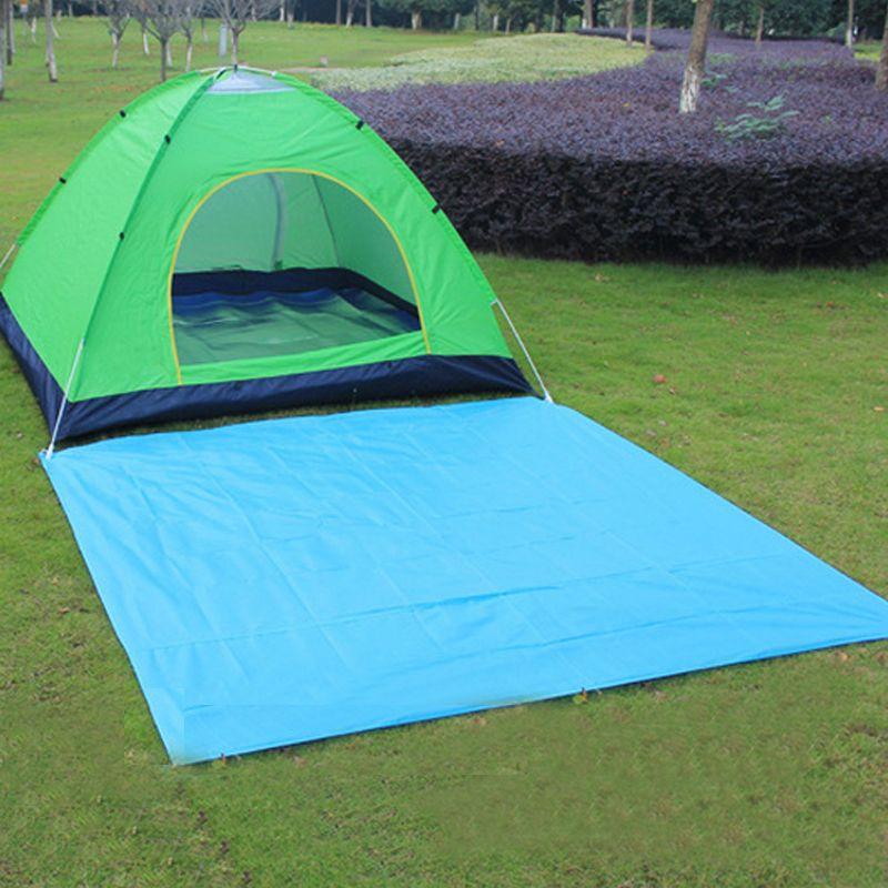Portable Tarp Waterproof Outdoor Camping Mat Camping Mattress Tarpaulin Bay Play Sandbeach Picnic Barbecue Beach Mat Blue Black