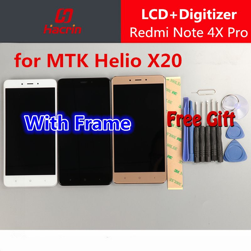 for Xiaomi Redmi Note 4X Pro Screen with Frame lcd display touch screen assembly replacement for 4X Prime 4GB RAM 64GB ROM