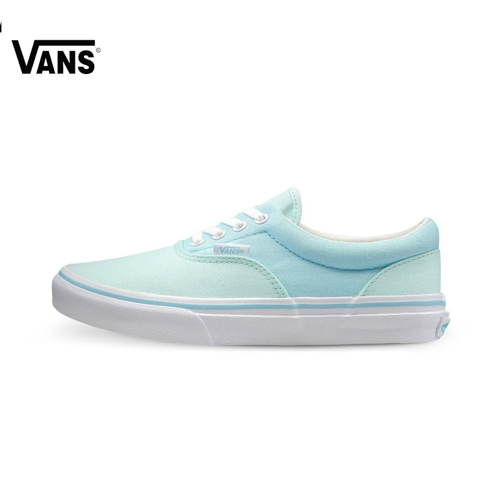 Original Vans New Arrival Blue and Green Women's Skateboarding Shoes Era Canvas Shoes Sports Shoes Sneakers