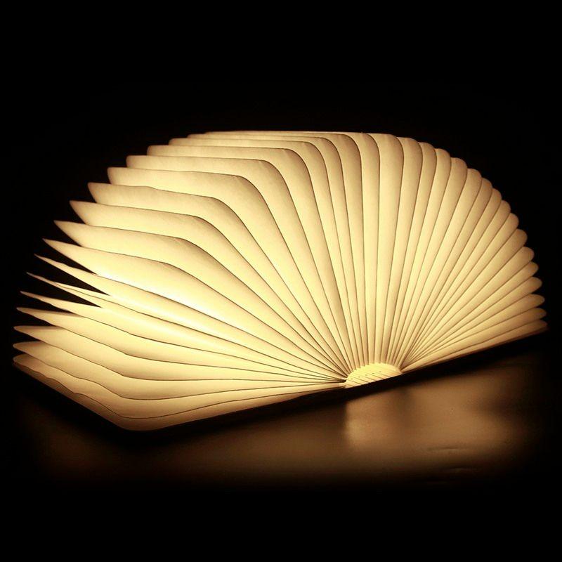 Chic Plegable Creativos del Nightlight LED Lámpara de Luz LED Libro Mejor Hogar Decorativo de La Novedad del USB Recargable Lámparas Blanco/Caliente Más Nuevo