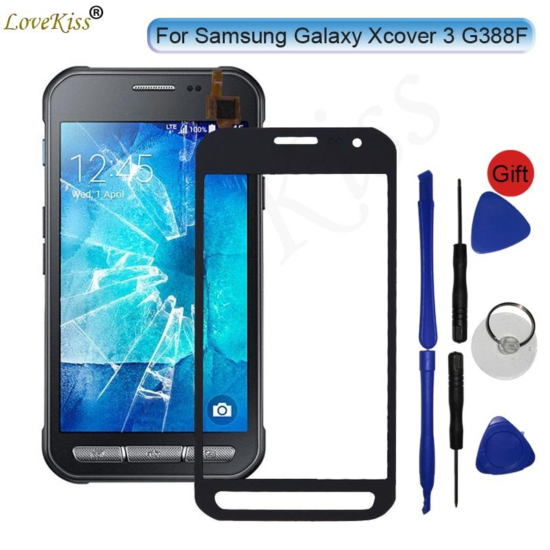 Touch Panel Digitizer For Samsung Galaxy Xcover 3 G388F XCover3 G388 SM-G388F Touch Screen Sensor LCD Display Front Glass Cover