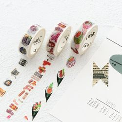 Kawaii succulent plants Washi Tape Diy Fita Decorativa Masking Adesiva Decorada Tapes Cute Washitape Decorative Adhesive Tape