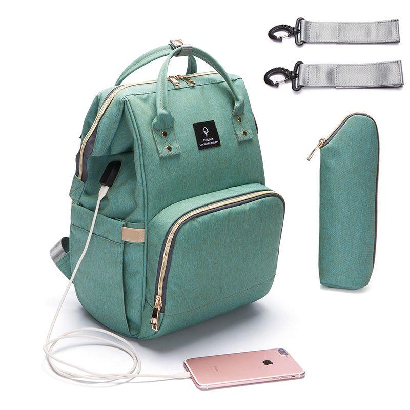 Sac à couches bébé maman poussette sacs USB grande capacité imperméable à l'eau nappy sac kits momie maternité voyage sac à dos soins infirmiers sac à main