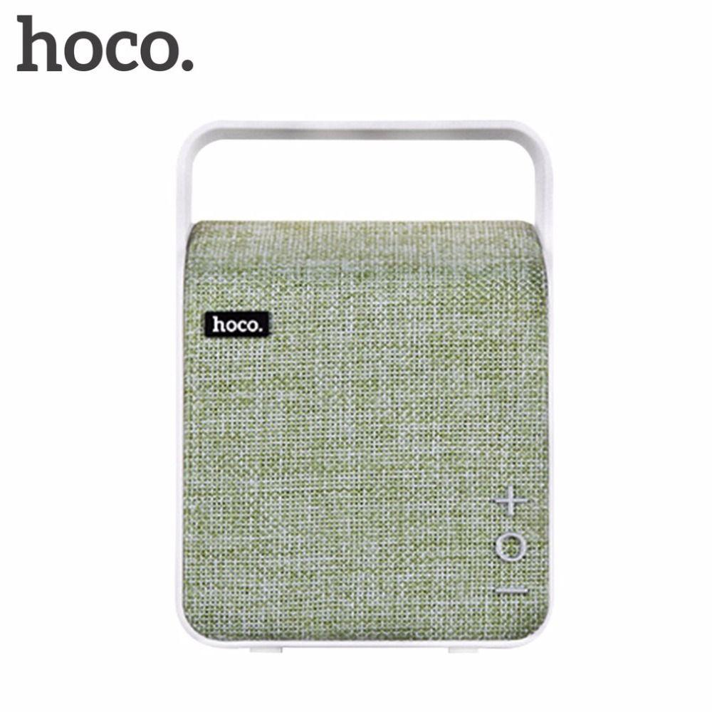 HOCO BS6 Portable Fabric Art Bluetooth Wireless Stereo Music Loudspeaker For Phone Computer Car Home Desktop Audio