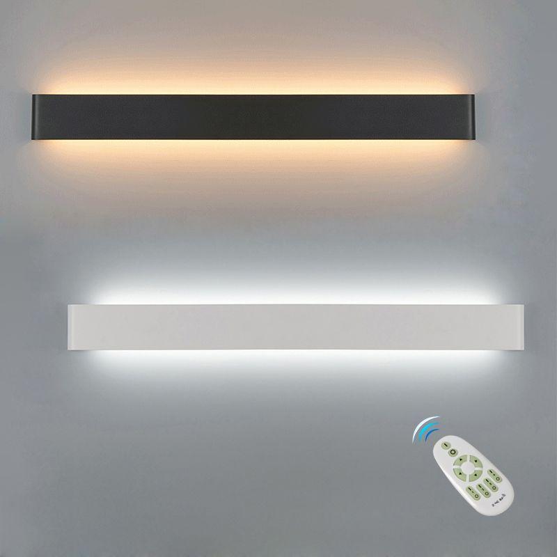 Mur LED lampe Dimmable 2.4G RF télécommande moderne chambre à côté de la lumière murale salon escalier éclairage décoration luminaires