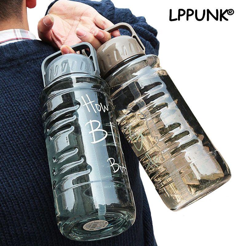 Sans Bpa 1500ml 2000ml grande capacité en plastique espace sport bouilloire créative et portable voyage équipé ma bouteille de paille d'eau