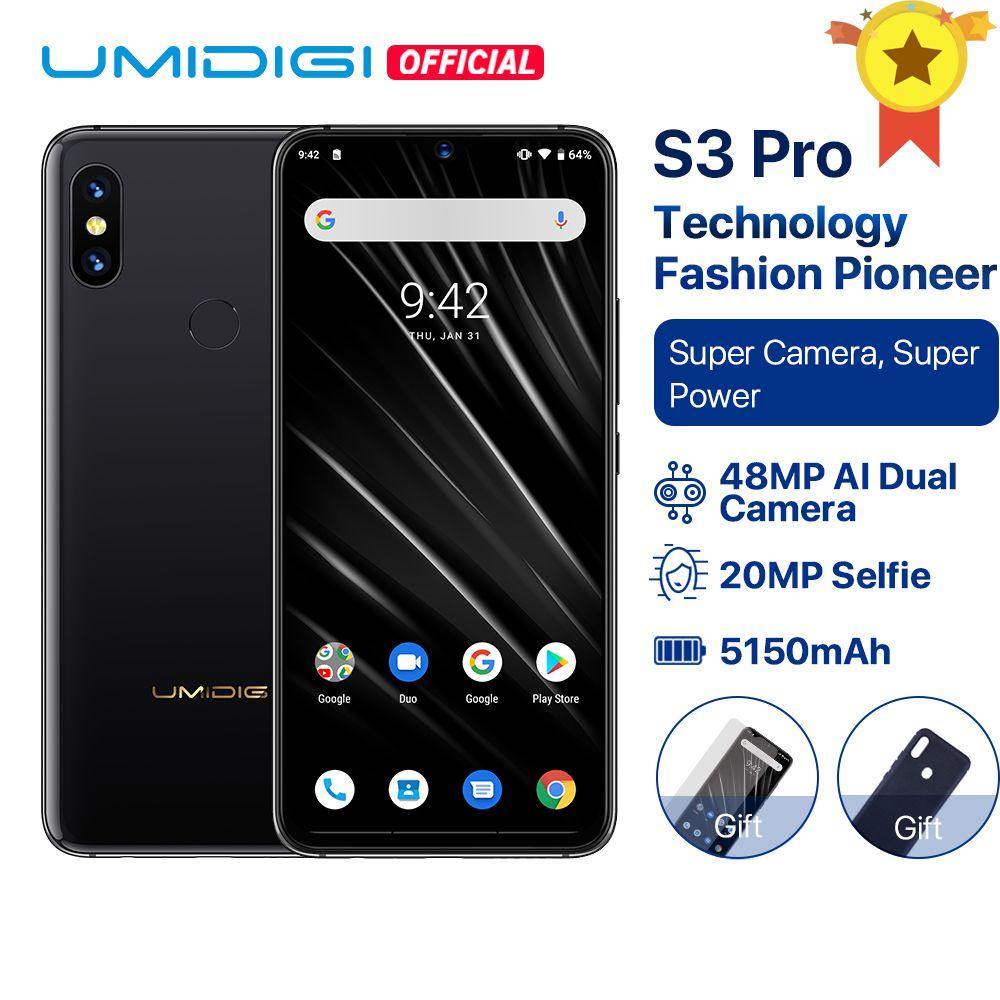 UMIDIGI S3 PRO Android 9.0 48MP+12MP+20MP Super Camera 5150mAh Big Power 128GB 6GB 6.3