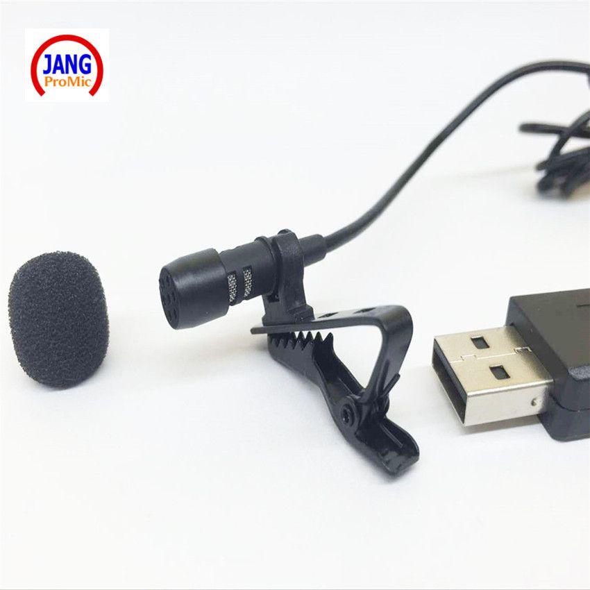 Professionnel Revers Mini Microphone À Condensateur USB Cravate Microfone pour Ordinateur PC Portable etc avec USB connecteur