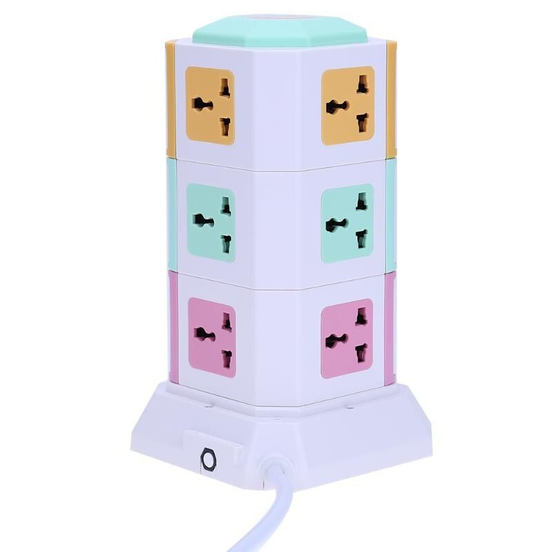 Universal Smart 3 Layer Power Socket Electrical Socket Plugs 11 Outlet 2 USB Ports Surge Protector Power Board US EU UK Plug