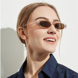 Yooske Vintage Persegi Panjang Kacamata Wanita Cat Eye Desainer Wanita Bingkai Kecil Hitam Merah Sun Kacamata Merek Retro Kurus Kacamata