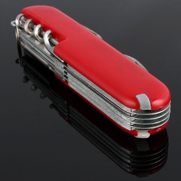 Rouge Suisse Champ Couteau Suisse En Acier Inoxydable Multifonctions Couteaux Pliants Extérieur de Couteau de Survie M451