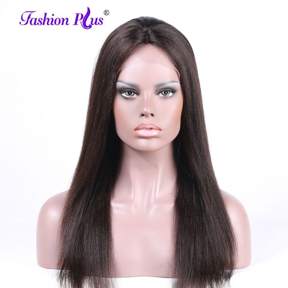 Full Lace Perruques de Cheveux Humains Avec Bébé Cheveux Pour Les Femmes Brésilien vierge Remy de Cheveux Humains Perruques Longue Perruque de Lacet Naturel Cheveux Raides