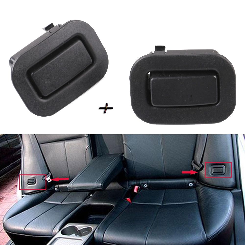 Black Pair Right Left Rear Seat Holder Recliner Button 64328AG001 64328AG011 for Subaru Forester 2009 2010 2011 2012 2013 New