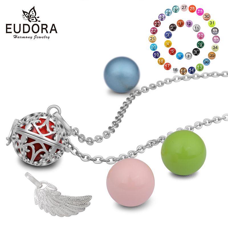 Eudora 18mm mexicain enceinte Bola collier aromathérapie Cage pendentif ange appelant son harmonie Bola Ball femmes bijoux FH169