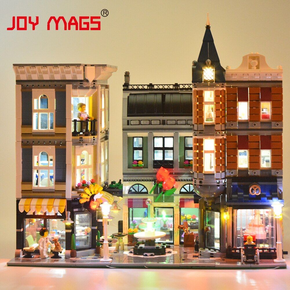 JOY MAGS Led Light Kit (Only Light Set) For Creator The Assembly Square Set Light Set Compatible With Lego 10255 And 15019