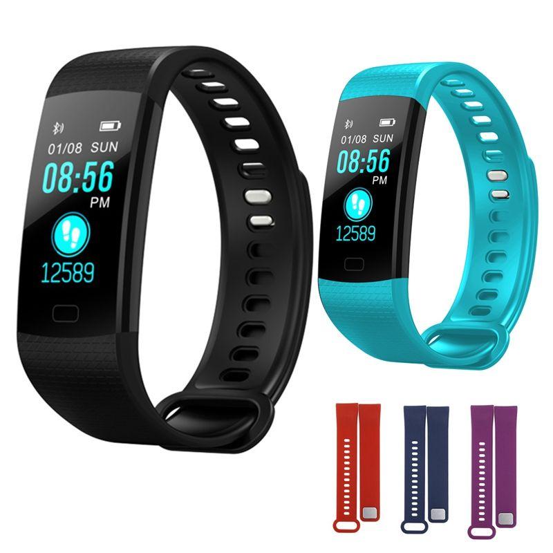 Y5 Bande À Puce Montre de remise en forme bracelet Smart Bracelet Couleur Écran de Fréquence Cardiaque Activité fitness tracker Électronique Intelligente bracelet