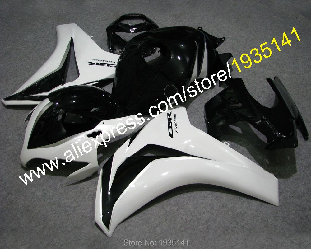 Hot Sales,CBR1000 RR 08 09 10 11 White black kit For Honda CBR 1000RR 2008 2009 2010 2011 motor fairing kit (Injection molding)