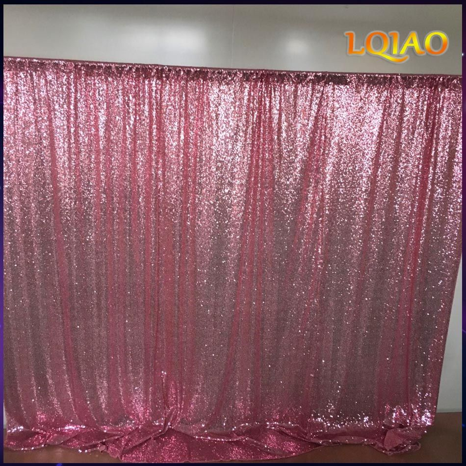 10x10FT Pink Gold/Champagne Sequin Fabric Backdrop Wedding Photo Booth Backdrops for <font><b>photography</b></font> studio/Party/Christmas Decor