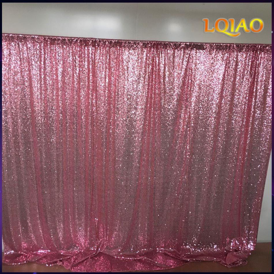 10x10FT or rose/Champagne Sequin tissu toile de fond de mariage Photo stand décors pour studio de photographie/fête/décor de noël
