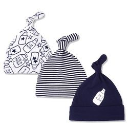 3 Buah/Banyak Bayi Topi 100% Katun Dicetak Bayi Hats & Caps untuk 0-6 Bulan Bayi Baru Lahir Aksesoris KF268