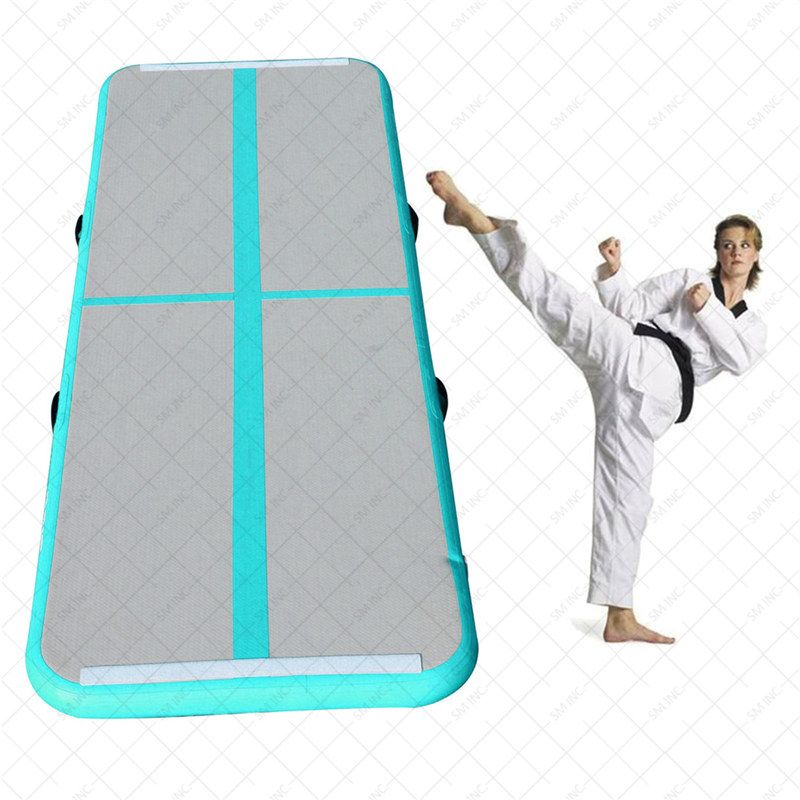 New Arrival Yoga Mats 0.9*3m Inflatable Tumble Track Trampoline Air Track Floor Home GYM Gymnastics Inflatable Air Tumbling Mat