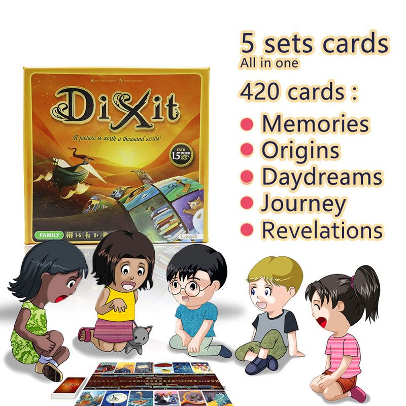 card game Dixit English <font><b>board</b></font> games gather 420 cards origins/journey/daydreams/memories/revelations gift hard box jogo juego