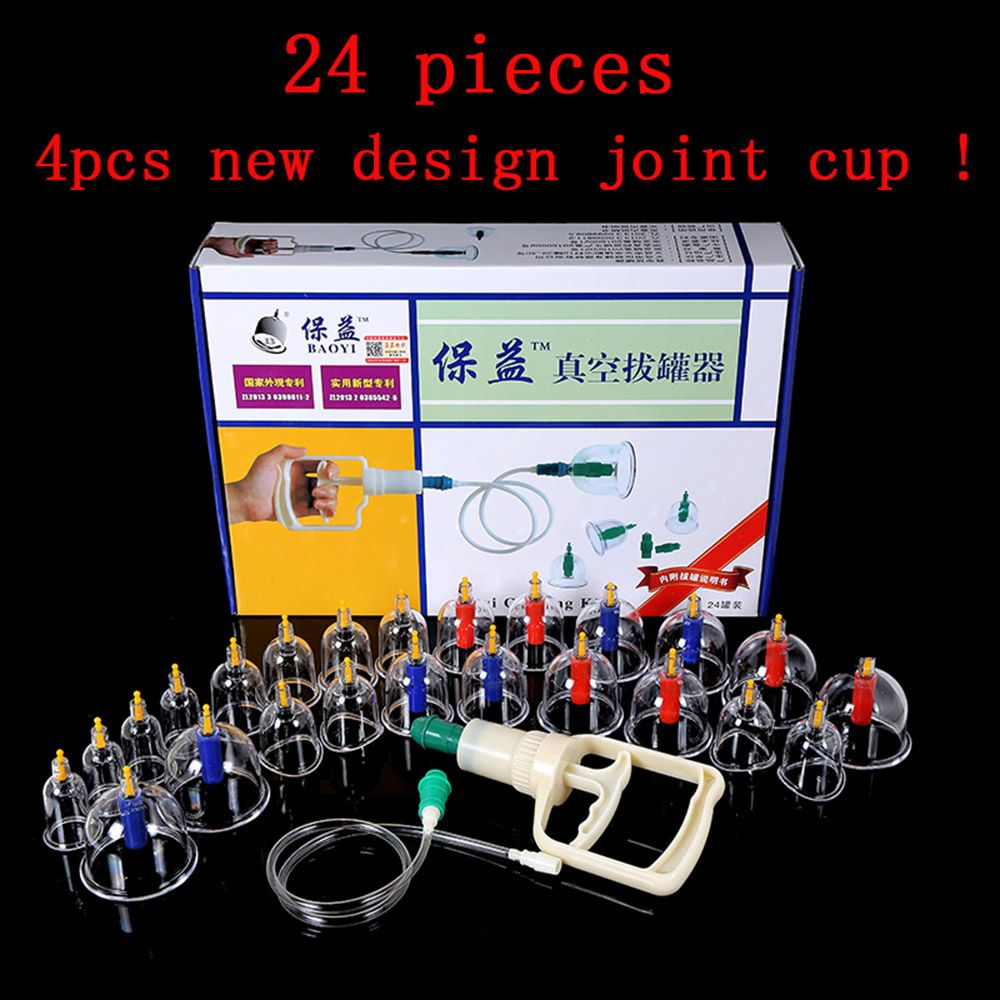 BOLIKIM 24 Pieces Massage Cans Massager Health Monitors Product Opener Pull Vacuum Cupping Massage Cupping Massage Bank Tank Set