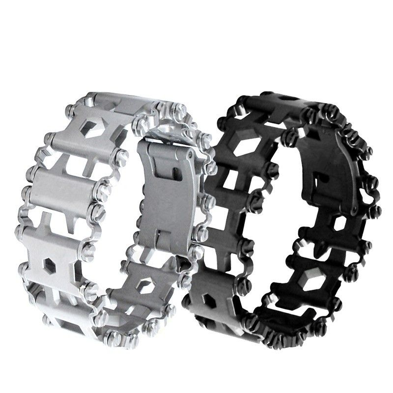 EDC Outdoor Utility Bracelet Hand Catenary Multi Functions for Men Tools for Hunting Survival Watch band Stainless Steel
