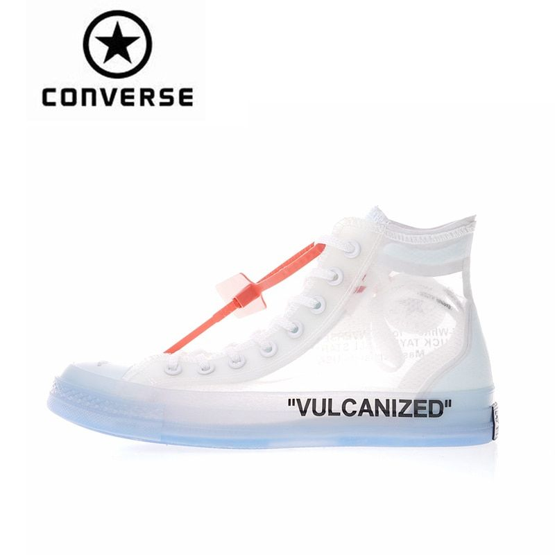 New Arrival Authentic Classic Converse OFFWHITE 1970s High Top Skateboarding Shoes Unisex Canvas Anti-Slippery Sneakser