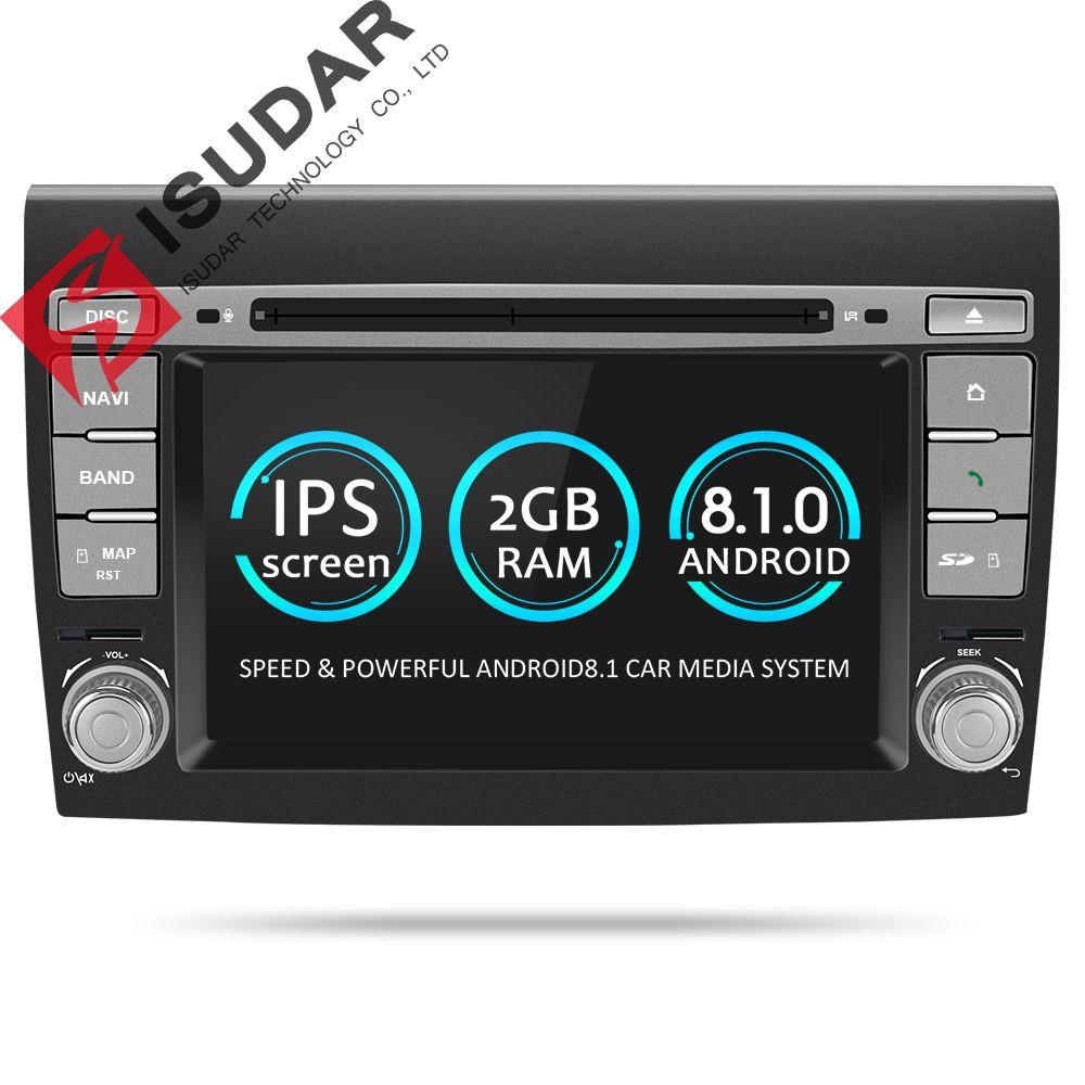 Isudar 2 Din Android 8.1 Auto Multimedia-player Für Fiat/Bravo 2007 2008 2009 2010 2011 2012 DVD Automotivo GPS radio 2 gb RAM