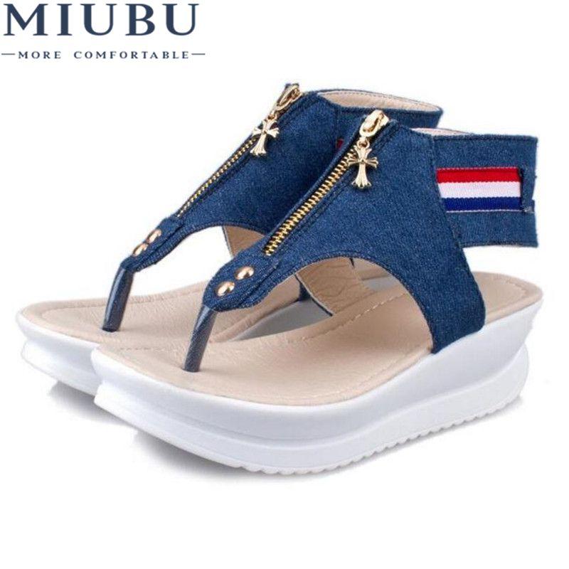 MIUBU 3 cm plate-forme orteils ouverts sandales plates femmes nouveau été femmes sandales chaussures femme sandales femme chaussures d'été 103