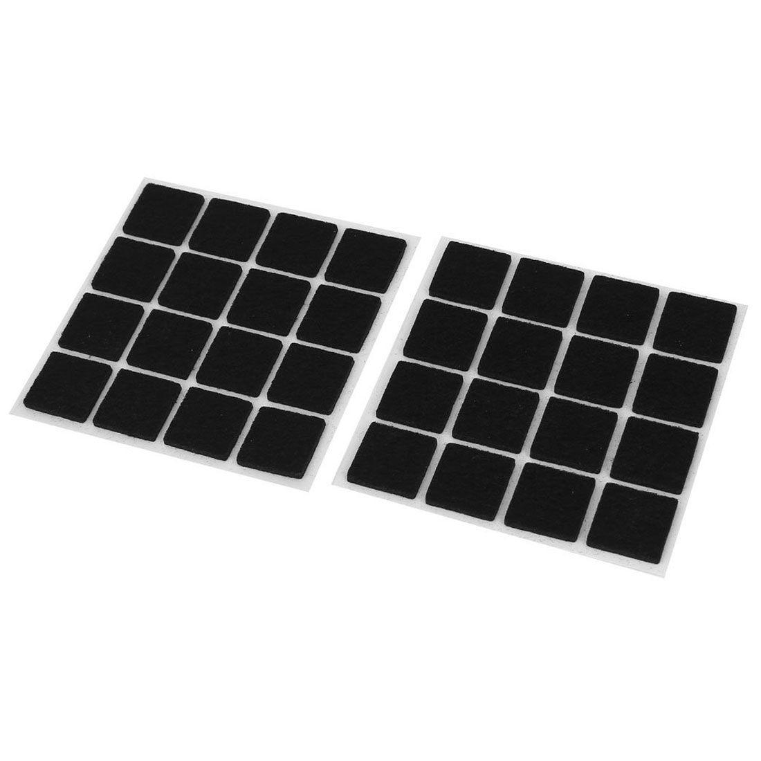 Self Adhesive Floor Protectors Furniture Felt Square Pads 32pcs