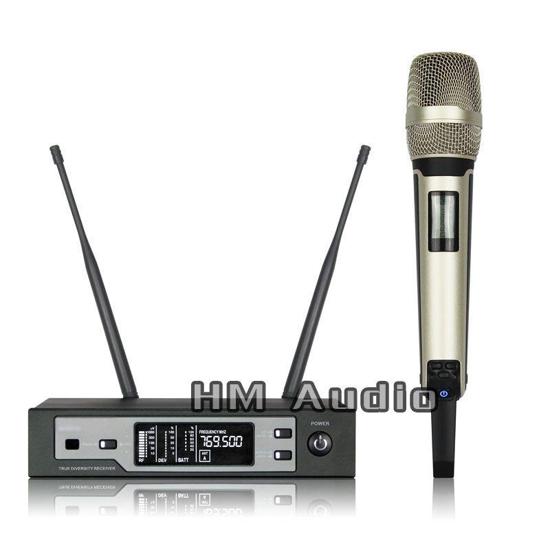 Nouveau haute qualité professionnel SKM9100 True diversité Microphone sans fil à main professionnel lavalier clip microphone casque