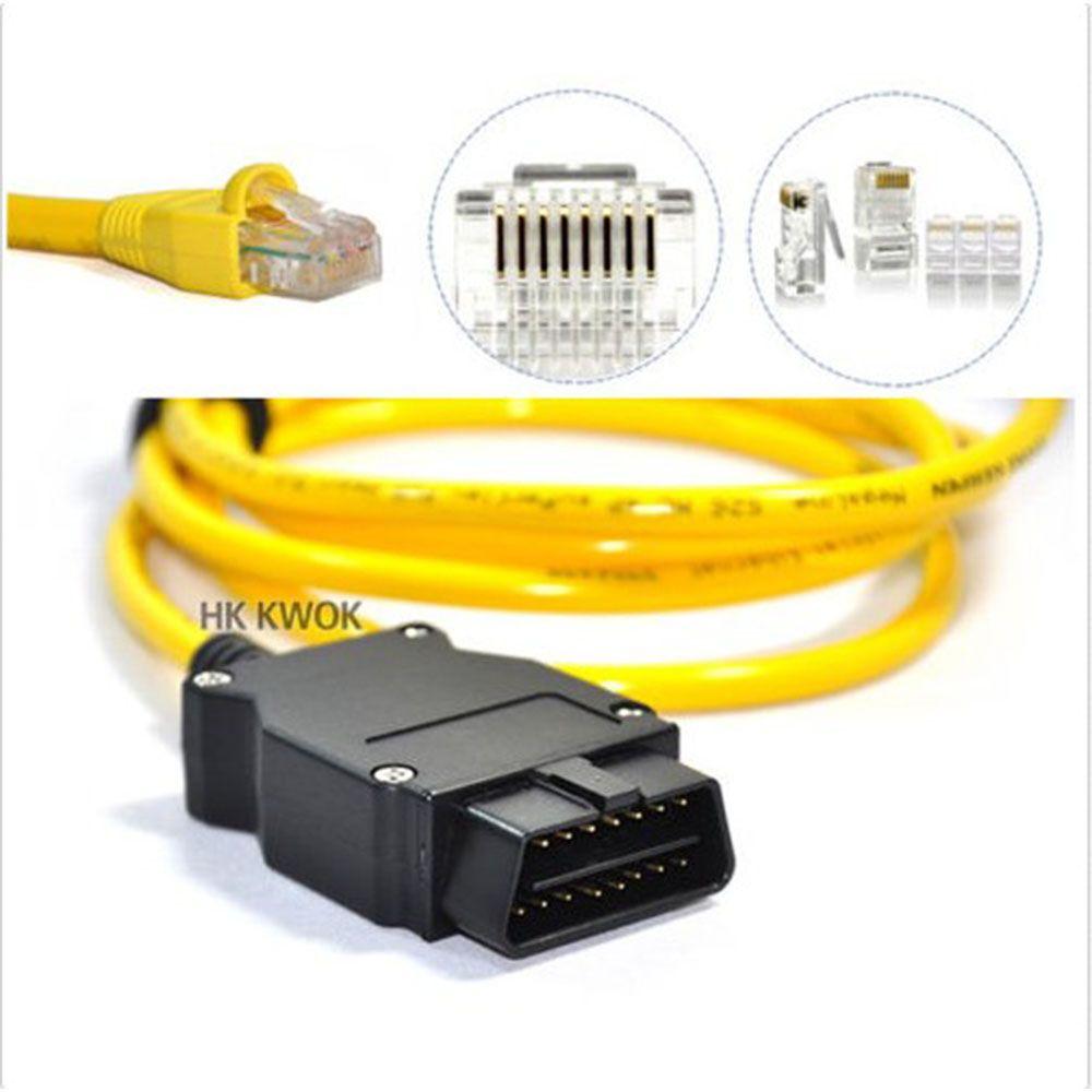 NEUE Ethernet zu OBD Für BMW F Serie ENET Kabel E-SYS ICOM 2 Codierung Ohne CD ESYS ICOM Codierung Diagnosewerkzeug Freies verschiffen