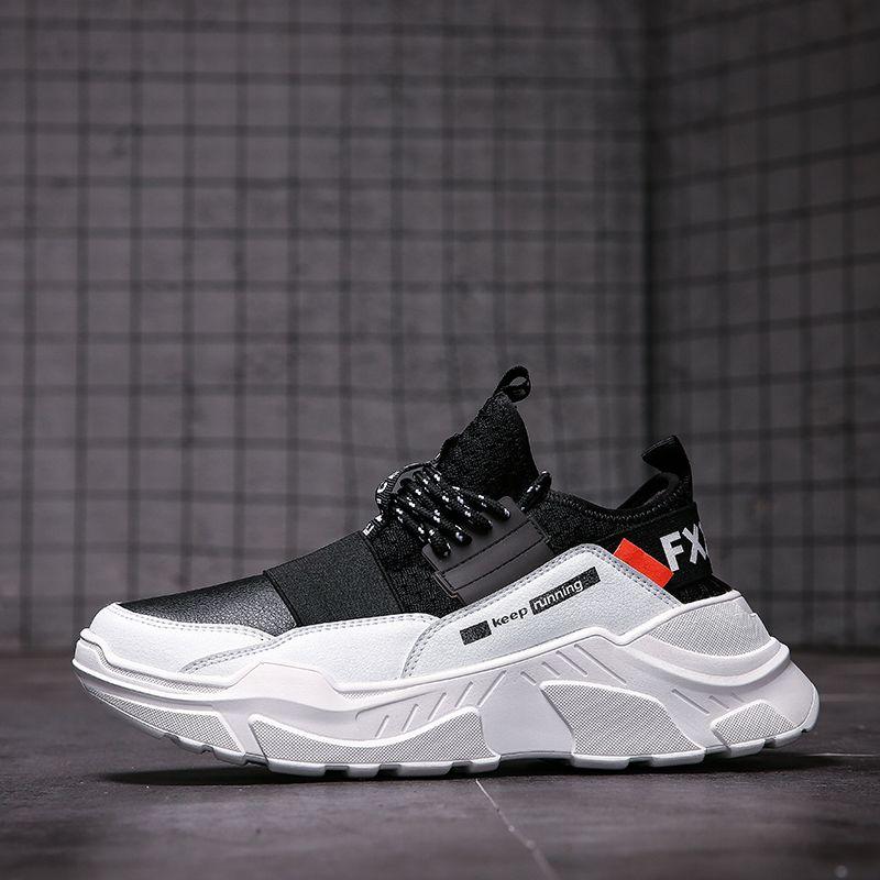 2019 hommes à lacets hommes baskets de haute qualité homme antidérapant confortable chaussures décontractées maille baskets respirant en plein air chaussures de marche
