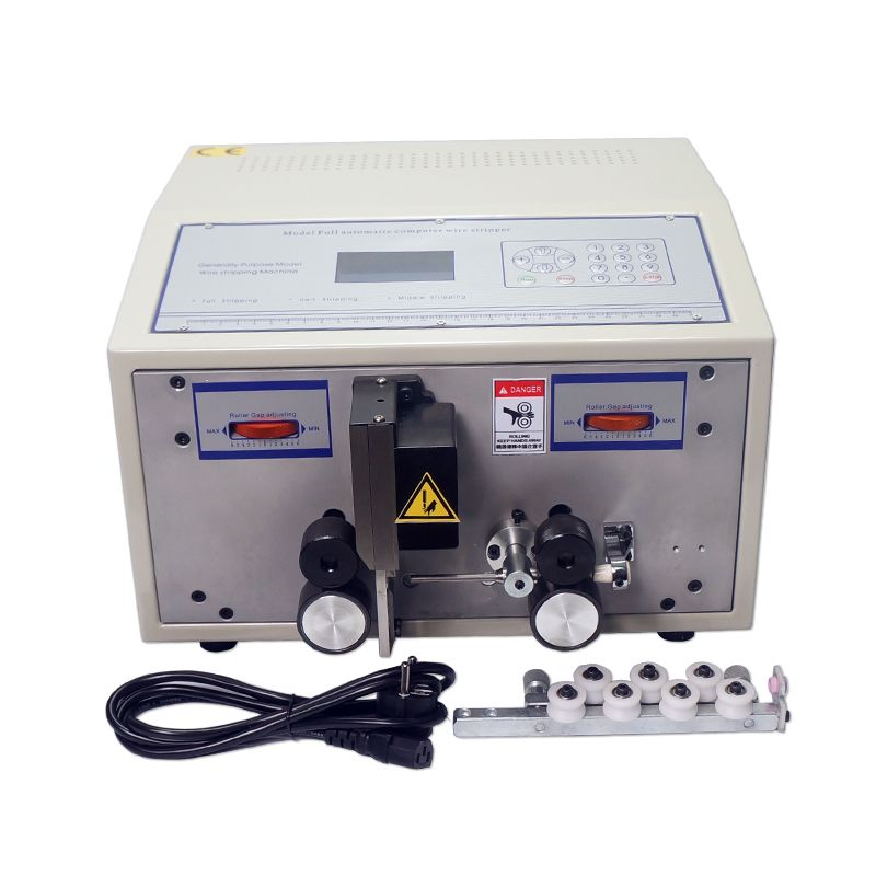 Voll automatische 0,1-2,5 quadratmillimeter computer abisolieren maschine SWT508C mit haarglätter für schneiden drähte