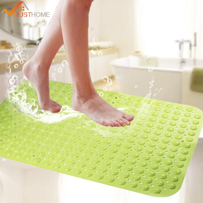 Soft TPR Rubber Non Slip Baby Kids Safety Shower Bath Tub Mat Skid Proof and Anti Bacterial