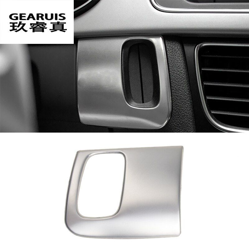 Car styling keyhole decorative frame covers trim key stickers strip for Audi A4 B8 A5 Interior Auto Accessories RHD LHD driving
