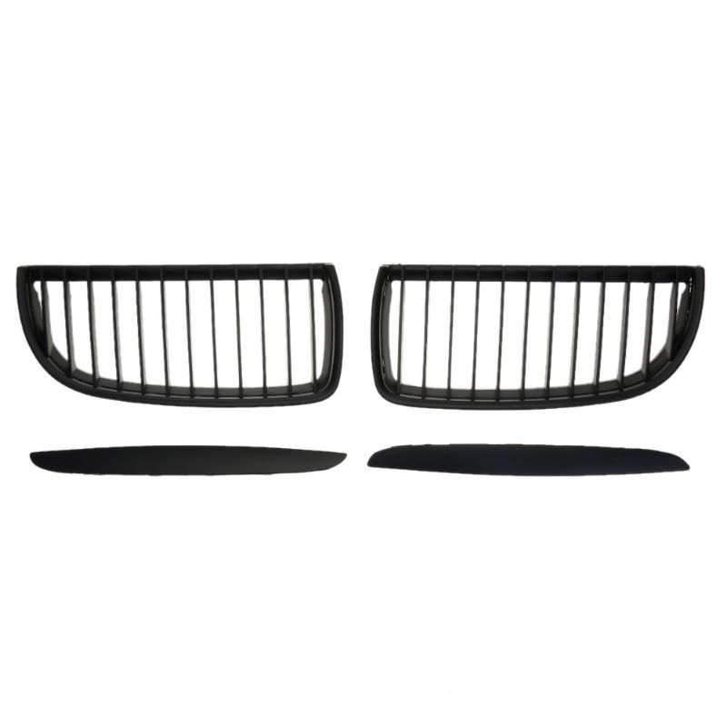 2pcs/set Matte Black Car Front Kidney Grilles for BMW E90 318 320i 325i 330i 04-07 325 x 150 x 50mm