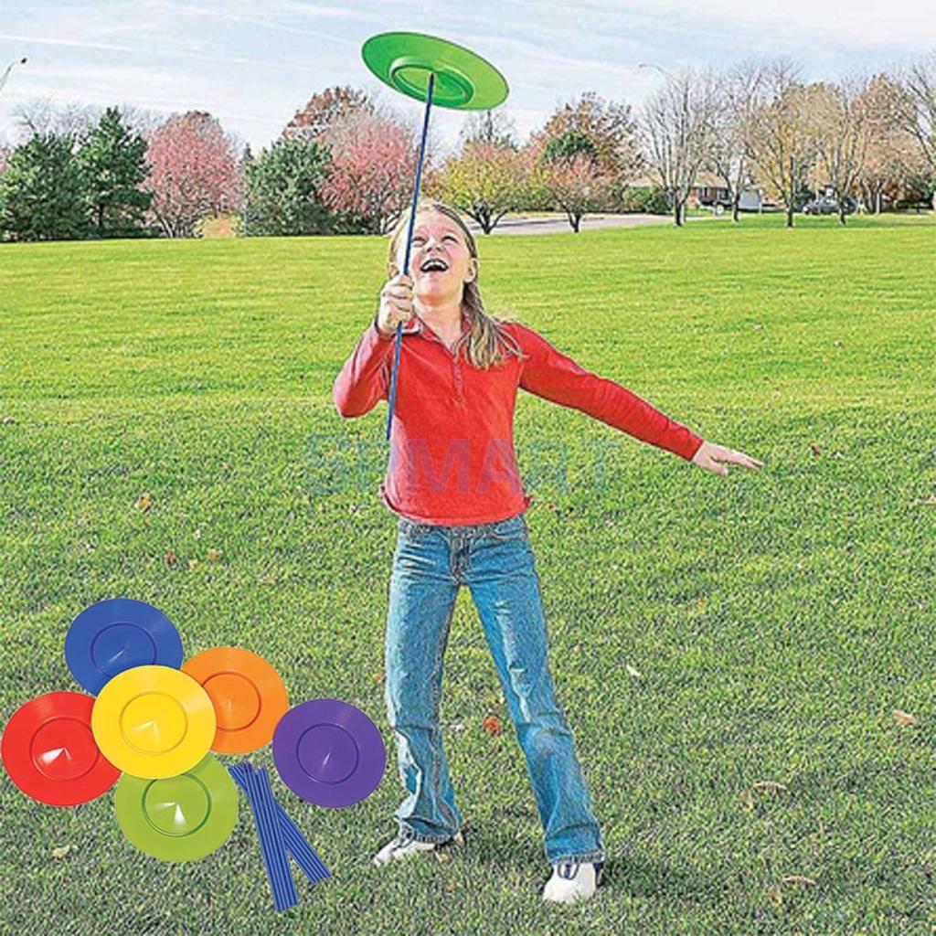 6 sätze Kunststoff-kreisel Platte Jonglieren Requisiten Leistung Werkzeuge Kinder Kinder Üben Balance Fähigkeiten Spielzeug Startseite Freien Garten