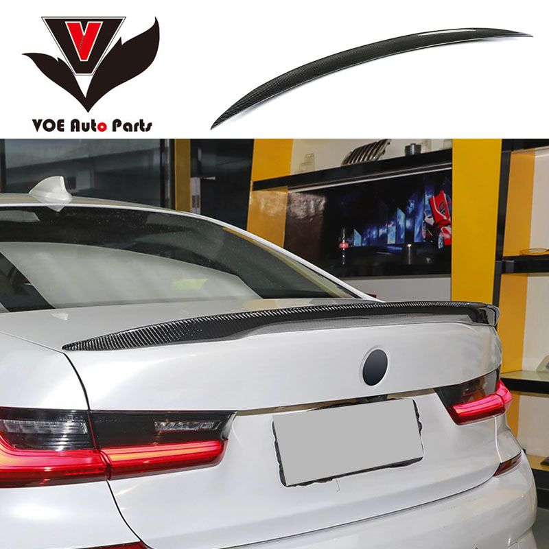 G20 Carbon Fiber Car-styling Rear Wing Lip Spoiler for BMW New 3 Series G20 2019 2020