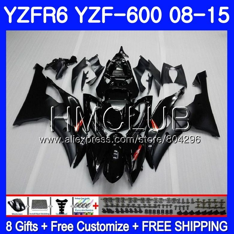 Körper Für YAMAHA YZF-600 YZFR6 08 09 10 11 YZF600 103HM10 YZF 600 R 6 YZF R6 YZF-R6 Fabrik schwarz 2008 2009 2010 2011 verkleidung Kit