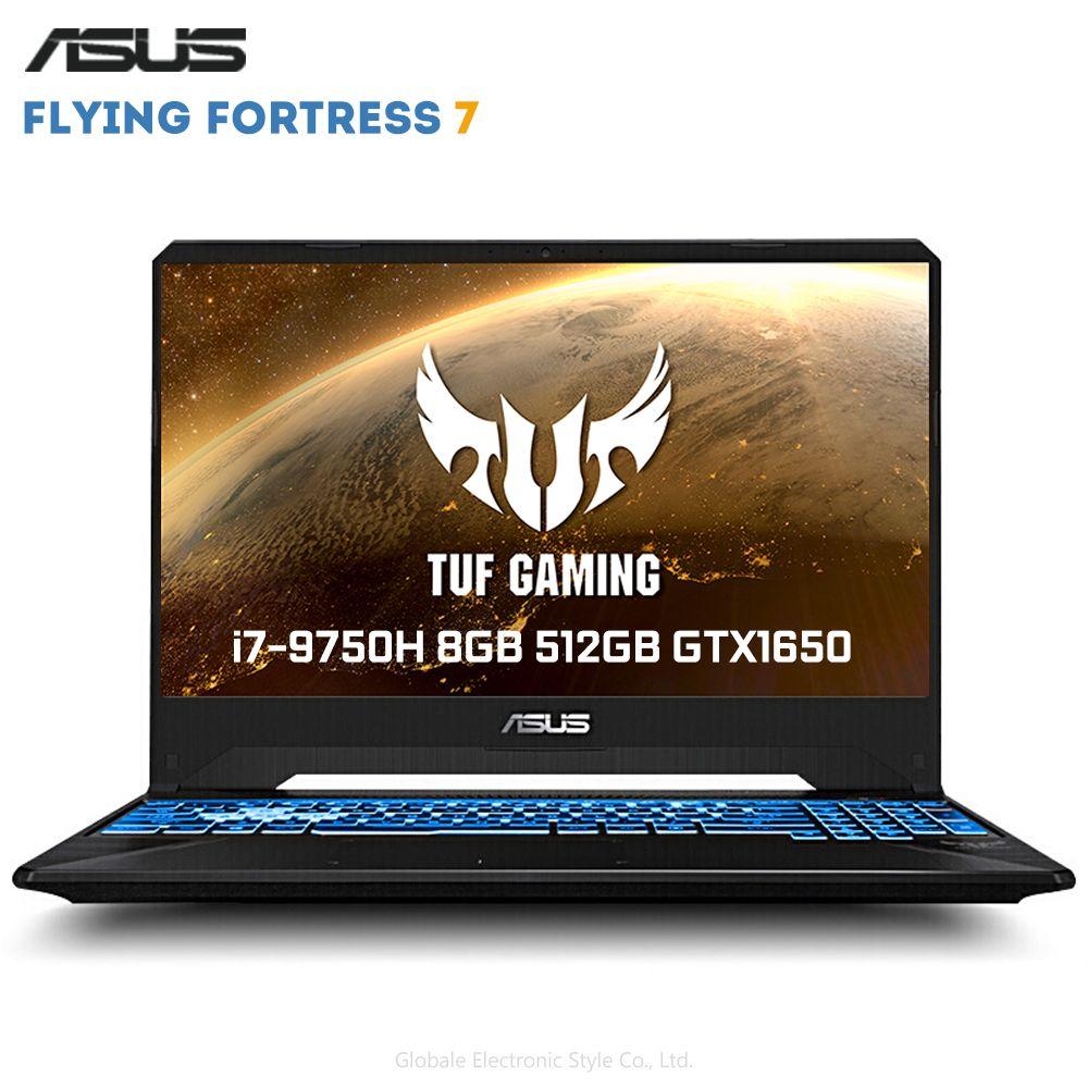 Original ASUS Fliegen Festung 7 15,6 zoll Gaming Laptop Windows 10 Intel Core i7-9750 H 8GB RAM 512GB SSD GeForce™GTX1650 4GB