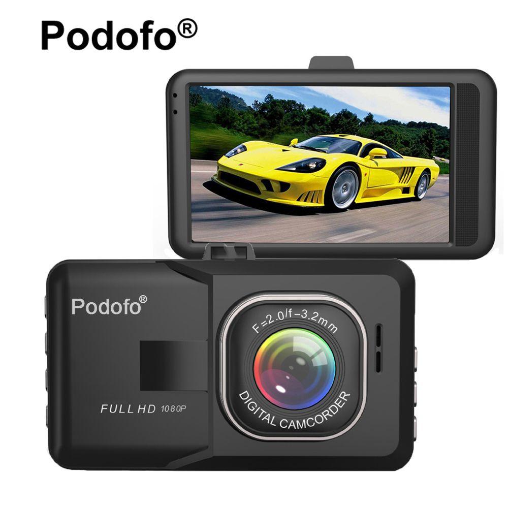 Original Podofo 3.0 inch Car DVR Camera FHD 1080P WDR Night Vision Motion Detection Registrar Video Recorder Blackbox Dash Cam