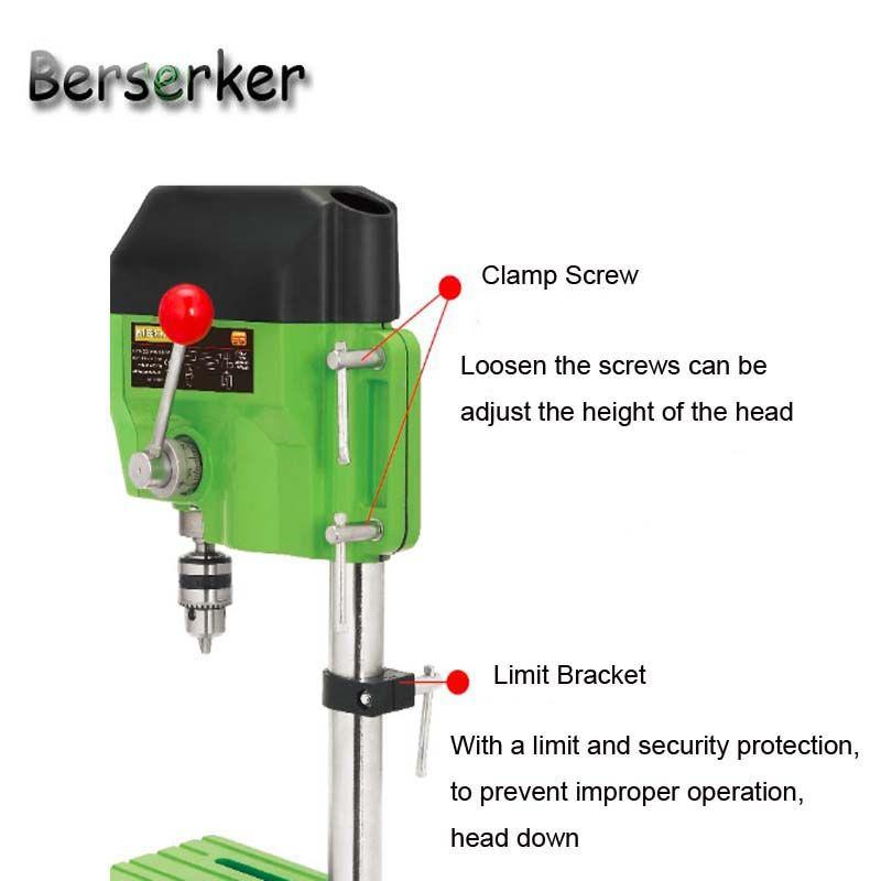 Berserker High Speed Mini Tischbohrmaschine Elektrische bohrmaschine 220 V 480 Watt 10mm bohrfutter BG-5166A Kostenloser Versand