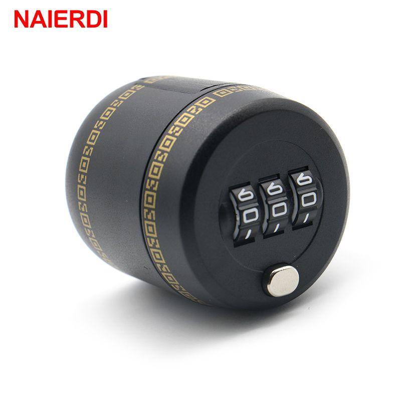 2017 NAIERDI Plastic Bottle Password Lock Combination Lock Wine Stopper Vacuum Plug Device Preservation For Furniture Hardware