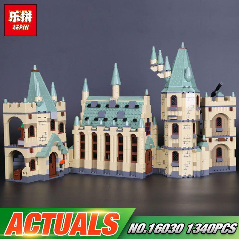 Lepin 16030 Movie Series The Hogwarts Castle Set 1340pcs Building Blocks Bricks Compatible 4842 Educational Toys Model As Gift